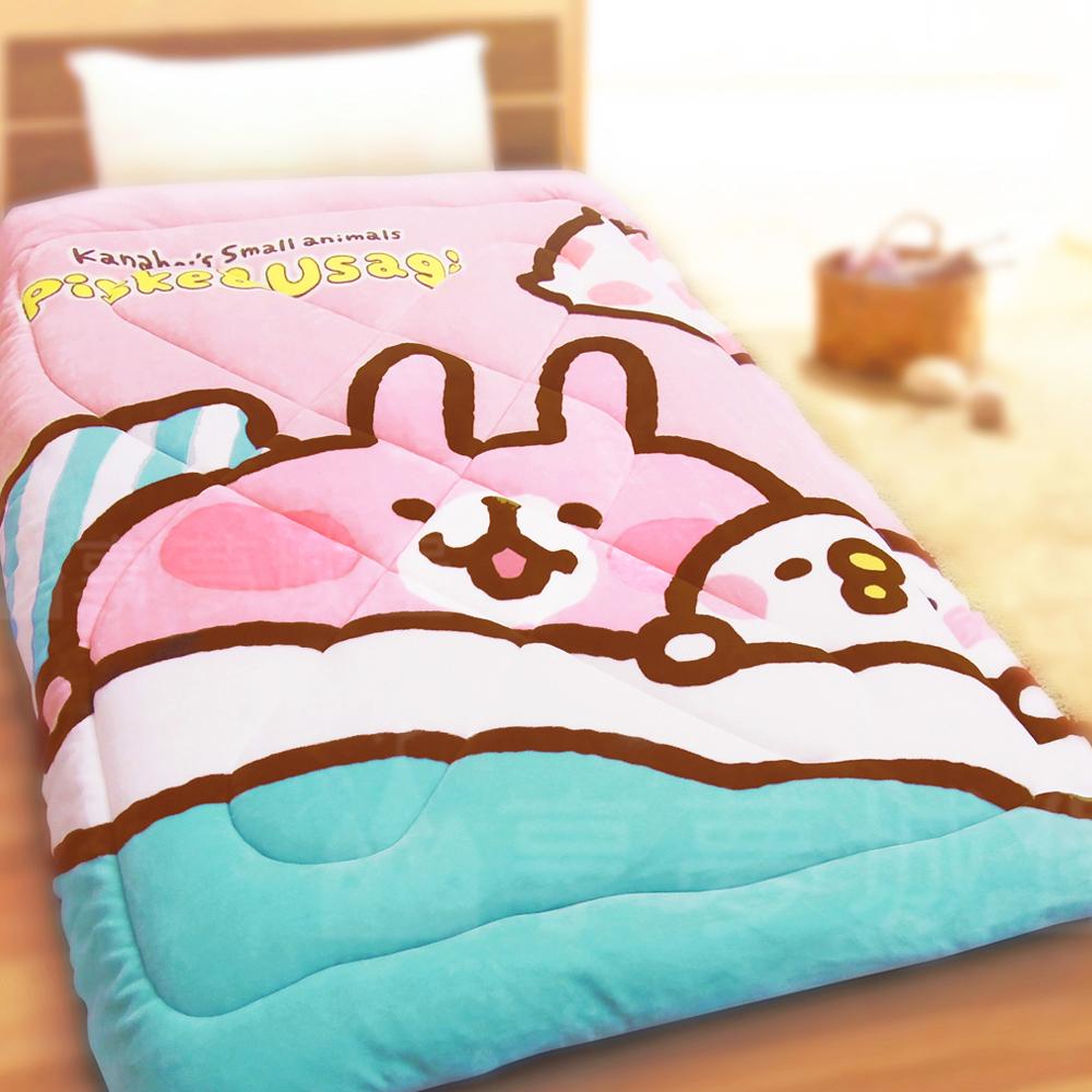享夢城堡法蘭絨暖暖毯被-卡娜赫拉的小動物Kanahei GoodNight-粉
