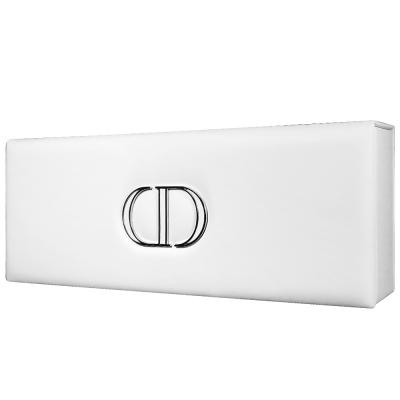 Dior迪奧 典雅白立體Logo皮革收納長盒