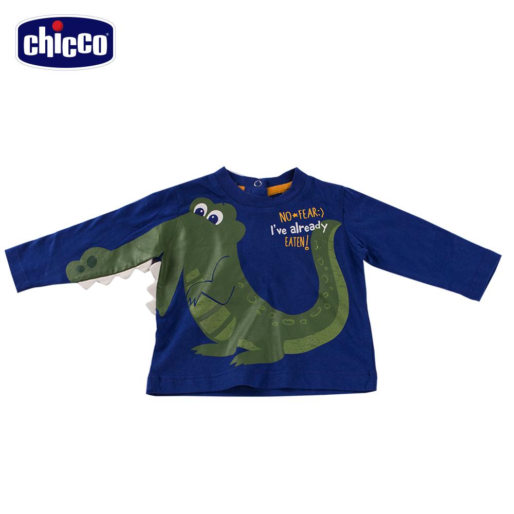 chicco鱷魚造型長袖上衣-青(12-24個月)