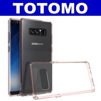 TOTOMO  For:三星NOTE8 防摔保護殼(高顏質超透感硬背板)-粉邊