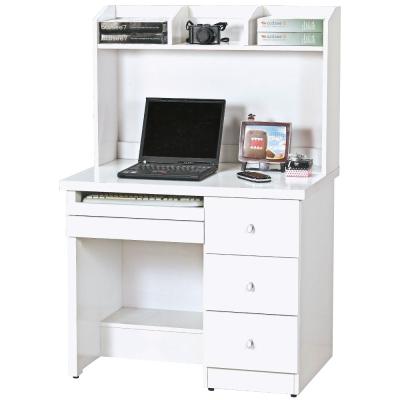 品家居-艾拉3尺白色書桌全組-上-下座