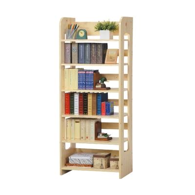 Boden-羅恩松木實木六層書架/收納櫃-64x32x160cm