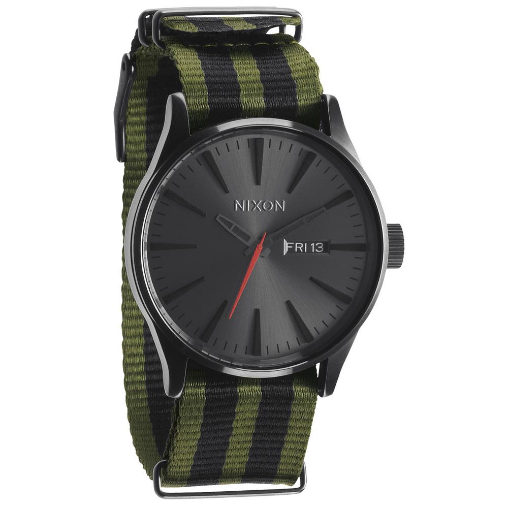 NIXON The TIME TELLER休閒都會腕錶-灰黑x軍綠/42mm