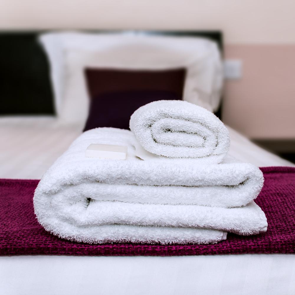法式寢飾花季 純品良織-五星飯店專用厚織浴巾毛巾組(浴巾x2+毛巾x6)