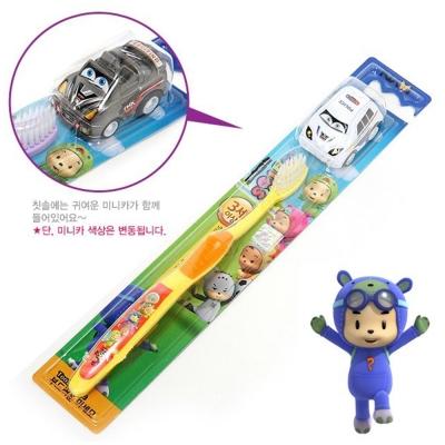韓國英佑Atex 納豆寶寶抗菌兒童牙刷(附小車車)-超值 4 入