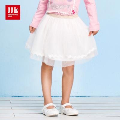 JJLKIDS 法式優雅女孩蕾絲紗裙(白色)