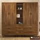 日本直人木業-Hardwood工業生活200CM衣櫃 200x54x197cm product thumbnail 1
