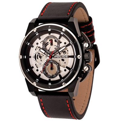 POLICE  機械之心三眼腕錶-14688JSBS-04/46mm