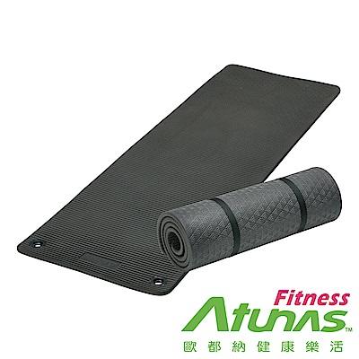 【ATUNAS 歐都納】健身運動瑜珈墊15mm(MEM72151黑/有氧/塑身/厚墊)
