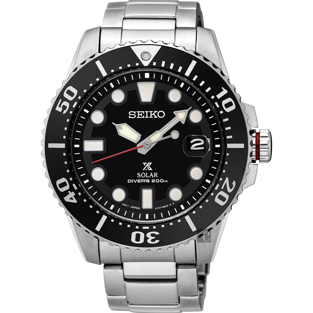 SEIKO 精工 PROSPEX SCUBA 太陽能腕錶(SNE437J1)-黑水鬼