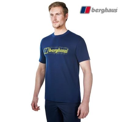 【Berghaus貝豪斯】男款銀離子除臭抗菌吸濕快乾抗UV上衣S04M90深藍