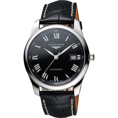 LONGINES Master 巨擘系列羅馬機械腕錶-黑/40mm L27934517