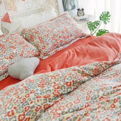 絲薇諾 橘子花豹 法蘭絨/被套 雙人-180×210cm