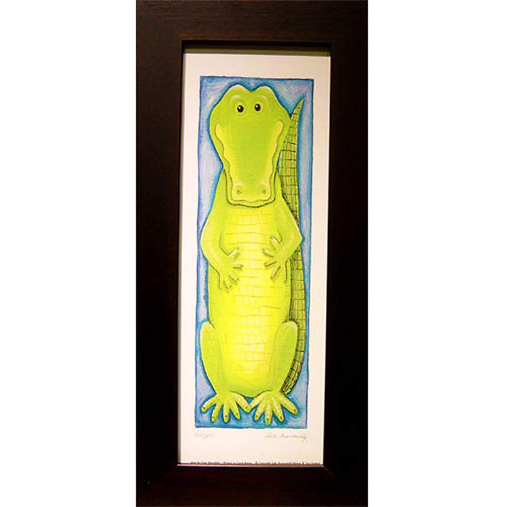 開運陶源   可愛動物系列之【鱷魚】小幅