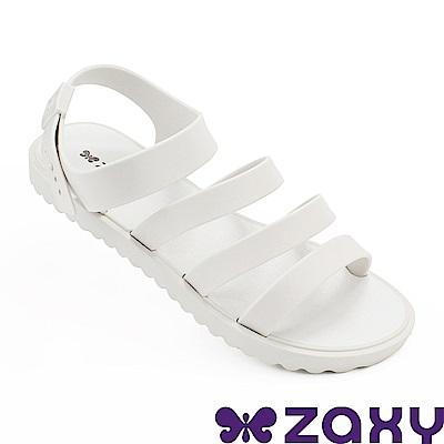Zaxy 巴西 女 春日風采平底涼鞋-白色