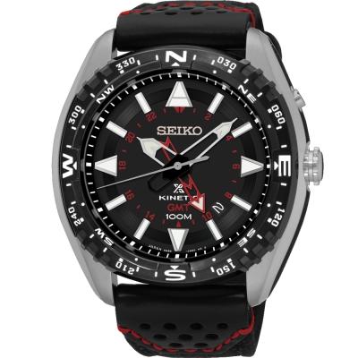 SEIKO Prospex GMT 精工人動電能時尚腕錶(SUN049P2)-黑/45mm