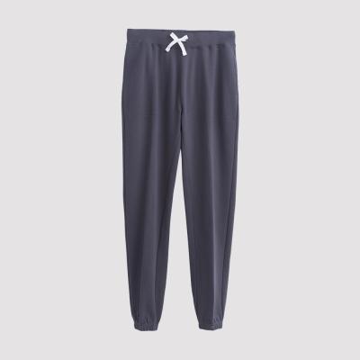 Hang Ten - 男裝 - 運動潮流素面直筒棉褲 - 深灰