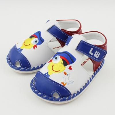 愛的世界 海軍風好伙伴寶寶鞋/學步鞋-台灣製-