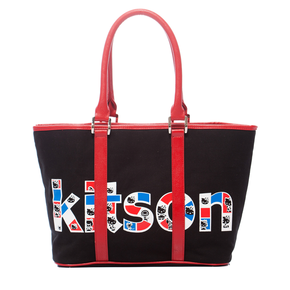 kitson x Kitty - RED edition 聯名系列 Tote (黑)