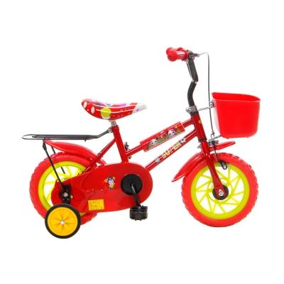 KB-02  12吋可愛輔助輪童車(2色可選)