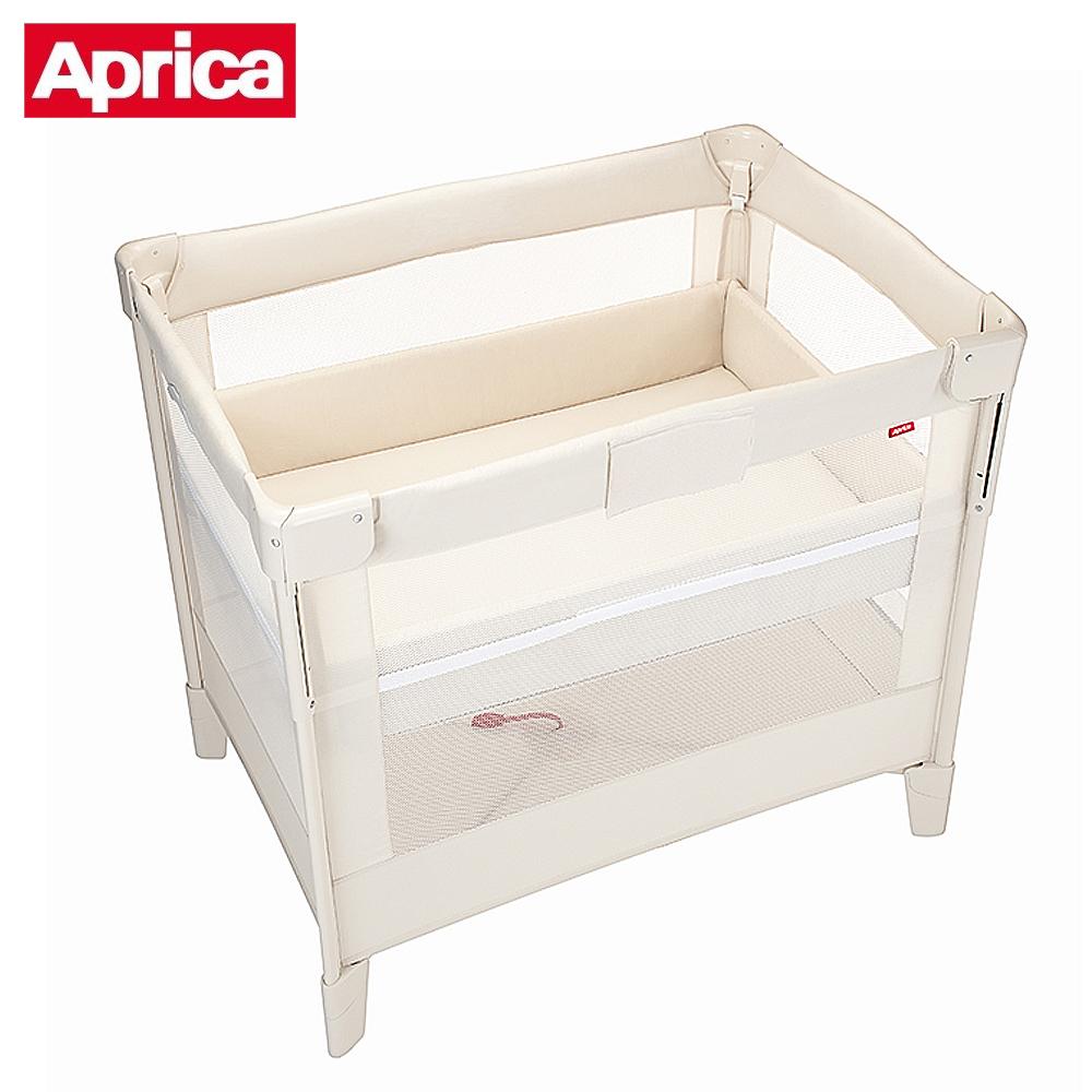 【Aprica】 可攜帶式嬰兒床COCONEL Air 任意床-牛奶白 WH