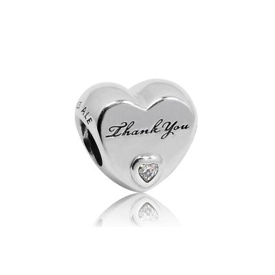 Pandora 潘朵拉 感謝之心 鑲鋯純銀墜飾 串珠
