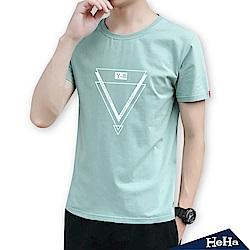 幾何圖形短袖T恤 三色-HeHa