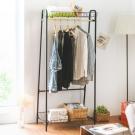Home Feeling 衣架/雙層置物籃/吊衣架/衣帽架-70x40x156cm