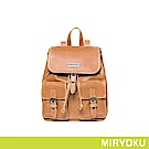 MIRYOKU 復古皮革系列 / 經典多口袋束繩後背包(共3色)