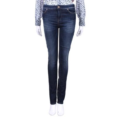 Max Mara-WEEKEND 深藍刷色窄管牛仔褲