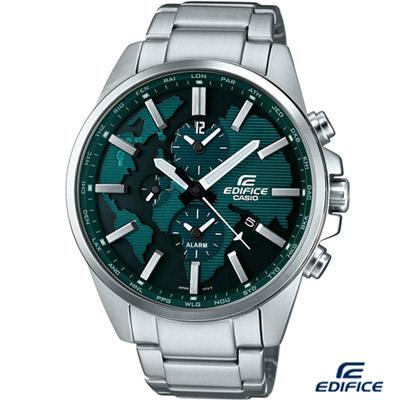 EDIFICE 多功能鬧鈴腕錶(ETD-300D-3A)-綠/46.3mm