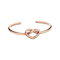 CALVIN KLEIN 心動系列 玫瑰金開放式手環