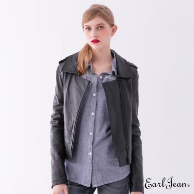 Earl Jean 小羊皮騎士夾克-黑色-女
