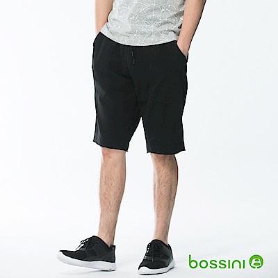 bossini男裝-休閒針織短褲01黑
