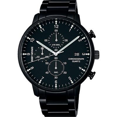 ISSEY MIYAKE C系列計時手錶(NYAD008Y)-黑/42mm
