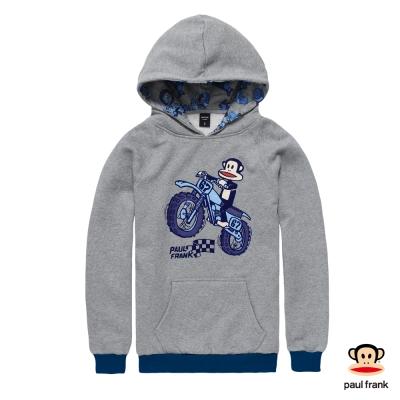 PAUL FRANK-摩托車之旅Julius兜風趣連帽長袖T恤-淺灰(男)