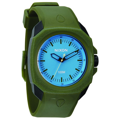 NIXON RUCKUS 玩樂色彩個性錶款-藍x墨綠/41mm