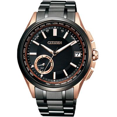 CITIZEN 星辰 光動能鈦感光GPS衛星對時腕錶(CC3014-50E)-黑/43mm