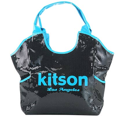 【kitson】 雙色亮片托特包  NEON BLUE