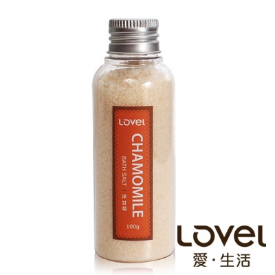 Lovel 天然井鹽/香氛沐浴鹽100g5入組(洋甘菊)
