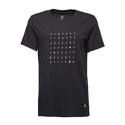 CONVERSE-女休閒短T恤10007513A02-黑