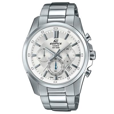 EDIFICE真摯心意簡約新時尚計時腕錶(EFR-560D-7)白面X銀43.7mm