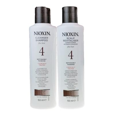 NIOXIN 耐奧森(儷康絲) 組合4號潔髮乳+甦活乳300ML 公司貨