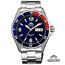 ORIENT 東方錶 WATER RESISTANT系列 200m潛水機械錶 鋼帶款 藍色