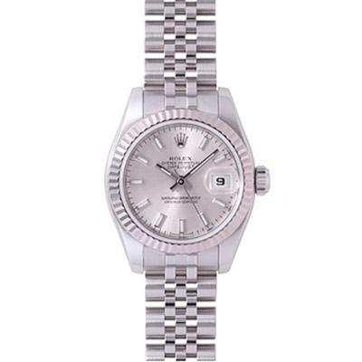 ROLEX 勞力士 Datejust 179174 蠔式恆動日誌型腕錶-銀/26mm