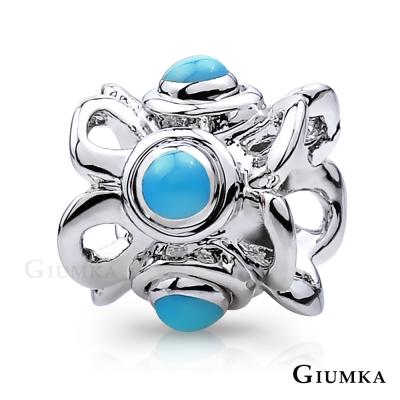 GIUMKA 珠飾 CHARMS 花冠-藍