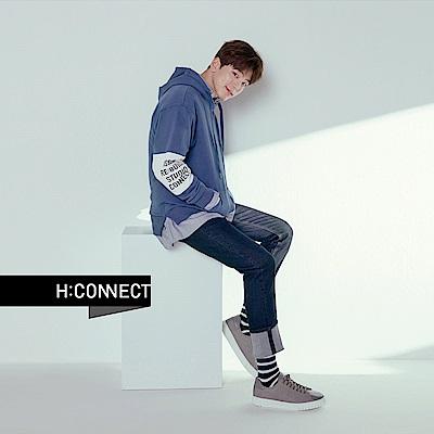H:CONNECT 韓國品牌 男裝 - 壓線彈性牛仔褲-藍