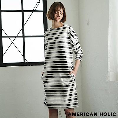 AMERICAN HOLIC 俐落橫條紋連身洋裝
