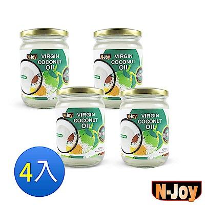 N-Joy 恩久 有機冷壓初榨椰子油(500mlx4入)