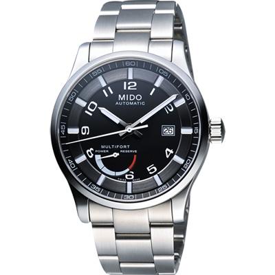 MIDO Multifort Gent 先鋒系列動力儲存機械腕錶-黑/42mm
